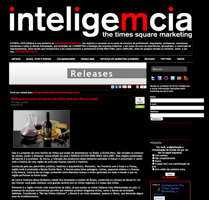 Site Inteligemcia - 03/2012