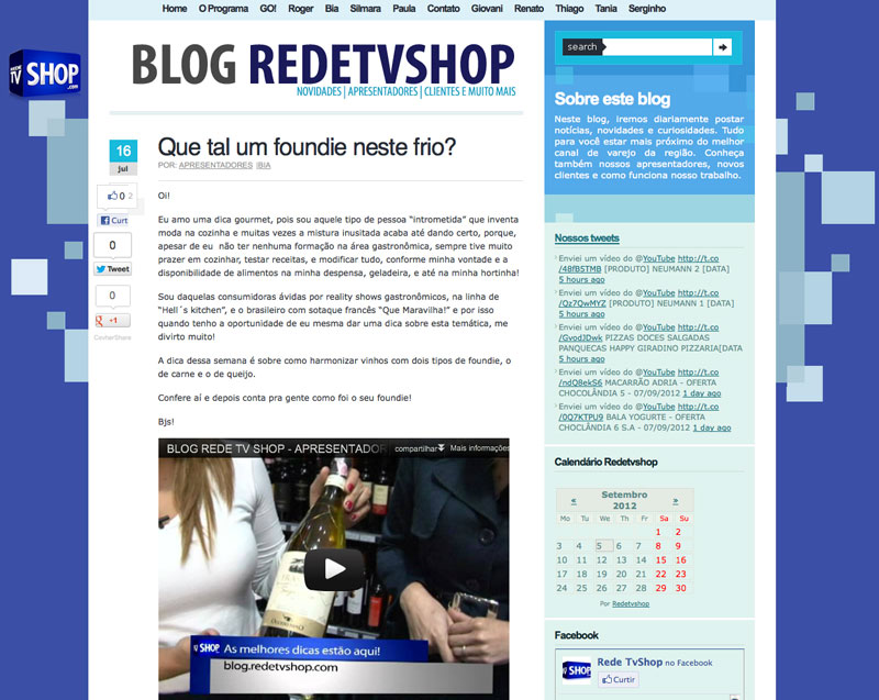 Rede TV Shop - 07/2012